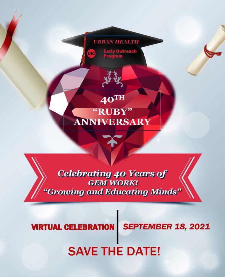 40th ruby anniversary flyer